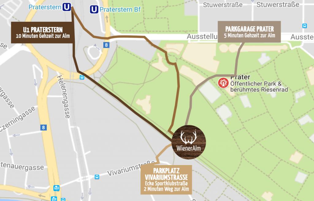Wiener Alm Lageplan